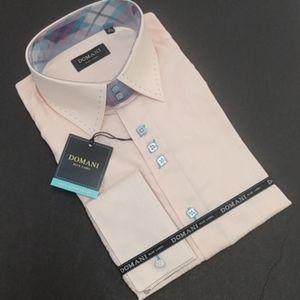 Unique Men's Domani Blue Label Elegant Dress Shirt